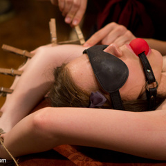 Kinky lesbian piano teacher punishes and ass - Unique Bondage - Pic 13