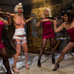 Cherry Torn gets hijacked by her bridesmaids - Unique Bondage - Pic 3