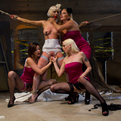 Cherry Torn gets hijacked by her bridesmaids - Unique Bondage - Pic 4