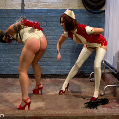 A kinky lesbian nurse takes advantage of her - Unique Bondage - Pic 2