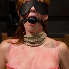 Adorable redhead takes lesbian punishment - Unique Bondage - Pic 2
