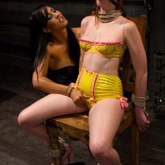 Adorable redhead takes lesbian punishment - Unique Bondage - Pic 10