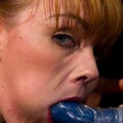 Adorable redhead takes lesbian punishment - Unique Bondage - Pic 11