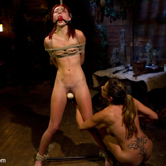 Two girlfriends camp overnight in a cabin - Unique Bondage - Pic 5