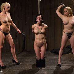 Pain slut is taken down by two hot blonde - Unique Bondage - Pic 4