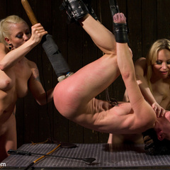 Pain slut is taken down by two hot blonde - Unique Bondage - Pic 7