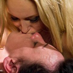 Pain slut is taken down by two hot blonde - Unique Bondage - Pic 12
