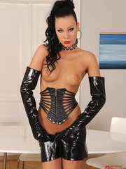 Sexy slim babe Nikita Black masturbating in - Unique Bondage - Pic 6