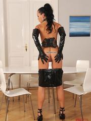 Sexy slim babe Nikita Black masturbating in - Unique Bondage - Pic 7