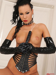 Sexy slim babe Nikita Black masturbating in - Unique Bondage - Pic 13