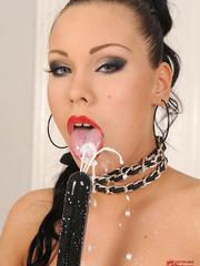Sexy slim babe Nikita Black masturbating in - Unique Bondage - Pic 16