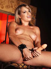Blonde babe Lara in latex masturbating with - Unique Bondage - Pic 12