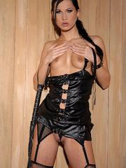 Nasty babe Sonja Black masturbating her cunt - Unique Bondage - Pic 7