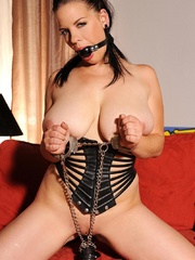 Busty hot wild Mandy May poses her body in - Unique Bondage - Pic 13