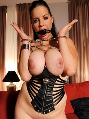 Busty hot wild Mandy May poses her body in - Unique Bondage - Pic 15