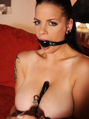 Busty hot wild Mandy May poses her body in - Unique Bondage - Pic 16