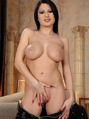 Hot young busty babe Alison shows her body - Unique Bondage - Pic 8