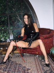 Steaming hot Jessica Jaymes smokes and - Unique Bondage - Pic 2