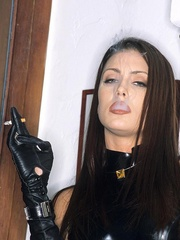Steaming hot Jessica Jaymes smokes and - Unique Bondage - Pic 6