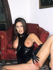 Steaming hot Jessica Jaymes smokes and - Unique Bondage - Pic 7