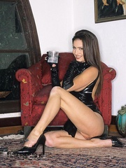 Steaming hot Jessica Jaymes smokes and - Unique Bondage - Pic 10