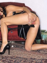 Steaming hot Jessica Jaymes smokes and - Unique Bondage - Pic 12