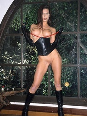 Steaming hot Jessica Jaymes smokes and - Unique Bondage - Pic 16