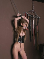 Latex girls Faye and Karli in painful BDSM, - Unique Bondage - Pic 10