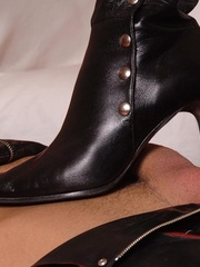 Latex clad Virginee and her male sex slave - Unique Bondage - Pic 2