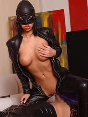 Latex clad Virginee and her male sex slave - Unique Bondage - Pic 8