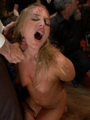 Tied up blonde slave chick gets her mouth - Unique Bondage - Pic 4