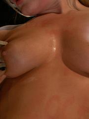 Tied up blonde slave chick gets her mouth - Unique Bondage - Pic 6