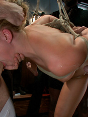 Tied up blonde slave chick gets her mouth - Unique Bondage - Pic 10
