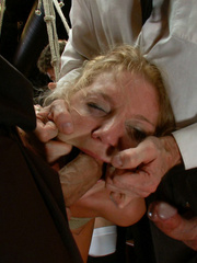 Tied up blonde slave chick gets her mouth - Unique Bondage - Pic 11