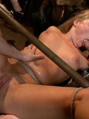 Tied up blonde slave chick gets her mouth - Unique Bondage - Pic 12