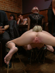 Busty blonde captured cutie gets ger body - Unique Bondage - Pic 7