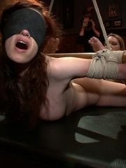 Busty gagballed beauty completely - Unique Bondage - Pic 1