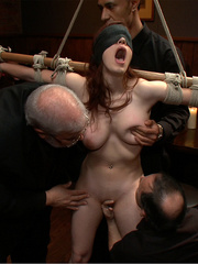 Busty gagballed beauty completely - Unique Bondage - Pic 12