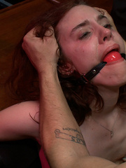 Busty gagballed beauty completely - Unique Bondage - Pic 14