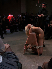 Innocent lloking blonde slave used up and - Unique Bondage - Pic 3