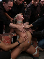 Innocent lloking blonde slave used up and - Unique Bondage - Pic 4
