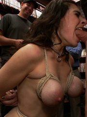Awesome big boobed captured girl gets her - Unique Bondage - Pic 5