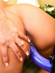 Busty lesbians strapon fucking! - Unique Bondage - Pic 9