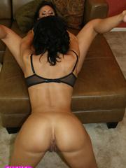 Curvy brunette lesbians strapon fucking! - Unique Bondage - Pic 8