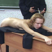 Young nun stripped naked and brutally caned - Unique Bondage - Pic 1