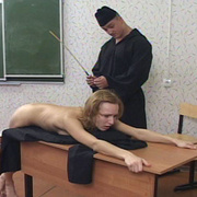 Young nun stripped naked and brutally caned - Unique Bondage - Pic 2