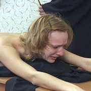 Young nun stripped naked and brutally caned - Unique Bondage - Pic 4
