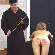 Young nun stripped naked and brutally caned - Unique Bondage - Pic 12