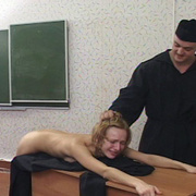 Young nun stripped naked and brutally caned - Unique Bondage - Pic 15