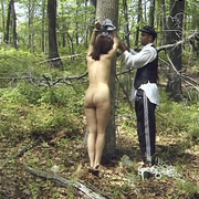 Terrified girl stripped naked in the forest - Unique Bondage - Pic 3